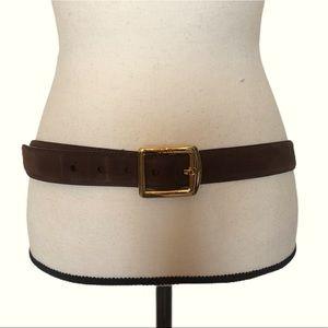 Lauren Ralph Lauren Brown Leather Suede Belt